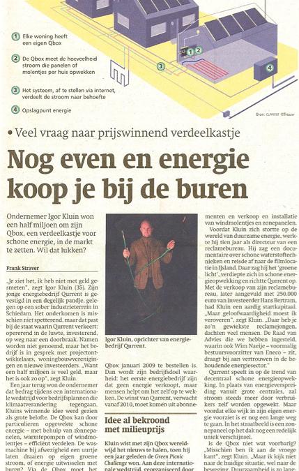 Trouw 'Energie koop je bij de buren'